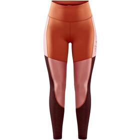 Craft ADV Charge Shiny Tights Women, pomarańczowy/czerwony